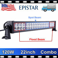 """22""""Inch 120W Led Light Bar Spot Flood Combo For Jeep Offroad Work Driving Truck"""