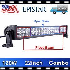 "22"" Inch 120W Led Light Flood Spot Combo Work Lights 4WD OFFROAD SUV ATV 12V24V"