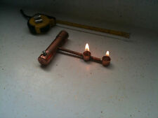 Solid Copper burner stirling  wilesco d16 Alcohol Steam engine no tablet need