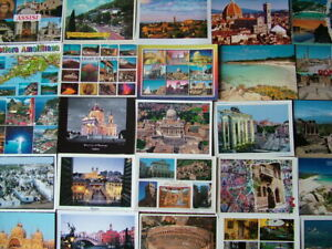 100 LARGER/OVERSIZE Postcards of/from ITALY & ISLANDS. Used & Unused.