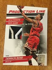 2010-11 DERRICK ROSE Donruss PANINI PRODUCTION LINE 3 COLOR JERSEY # 8/10  RARE