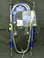 New Thunder Bay Kids Snowshoes & Poles w/ Carry Bag - Jf2013-Xs - Black & Blue