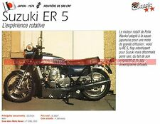 SUZUKI RE5 ( 500 RE-5 RE 5 Moteur WANKEL ) 1974 Fiche Moto 000236