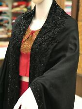 Pure Wool Cape with Hand Cut Daana Work, Pure Wool Poncho, Embroidered Shawl