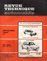 RTA revue technique l'expert automobile n ° 392 SIMCA CHRYSLER HORIZON