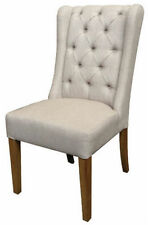 NEW YORKER DINING CHAIR. OAK LEGS. FABRIC BUTTON-BACK. BRAND NEW IN!!