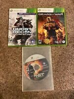 Xbox 360 Game Lot - Ghost Future Soldier, Splinter Cell Double, Gears Judgement