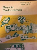 Vintage 1970 Bendix Carburetor Catalog Guide Book