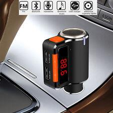 New Car Bluetooth Dual USB Charger MP3 FM Transmitter Cigarette Lighter Splitter