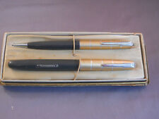 Waterman Vintage Fountain Pen and Pencil Set --working-l4k fine nib
