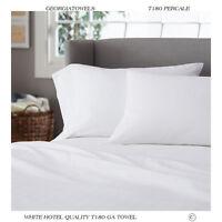 1 white t-180 inn hotel motel resort percale pillow cases 20x40 king *premium*