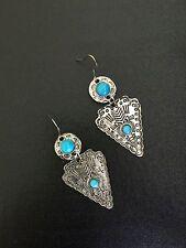 Turquoise Earrings Boho Bohemian Boho Tribal Ethnic A1119