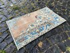 ETHNIC PATTERNED TURKISH CARPET IS 100% WOOL AND HAND WOVEN | 1,8 x 2,9 ft