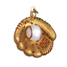 """Baseball Mitt"" (44027)X Old World Christmas Glass Ornament w/ OWC Box"