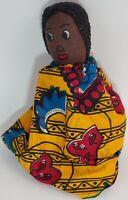 "Old Vintage Handmade Black African American DOLL Folk Art 8"""
