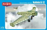 MikroMir 72-009 - Kalinin K-12 , Soviet bomber aircraft - 1/72 Scale Model Kit