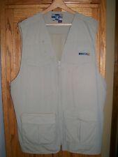 ExOfficio Travel Wear Outdoor Vest Fishing Photography Secure Pockets Men sz XLT