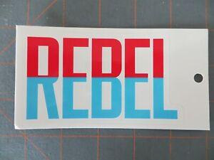 Vintage Mint Rebel Lures Fishing Sticker - 4 1/2 x 2 3/4 inch