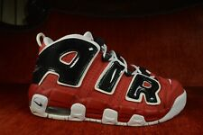 WORN 2X Nike Air Uptempo GS Varsity Red Size 7 Y Boys 415082-600 Chicago Bulls