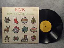 33 RPM LP Record Elvis Presley Sings The Wonderful World Of Christmas ANL1-1936