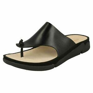 Clarks Trigenic Slip On Toe Post Leather Women's Sandals UK Size 4 1/2D