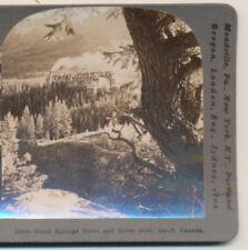 Banff Springs Hotel & River Bow Banff Canada Keystone Stereoview c1910