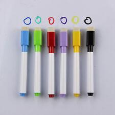 6pcs/Lot Coloured Ink Whiteboard Marker Pen Set With Eraser Kids Stationery Gift
