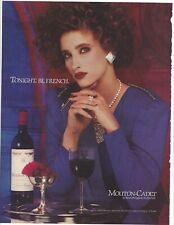 "Mouton-Cadet Wine 1986 Original Print Ad 9 x 11"" Playboy Magazine 80s 1980s"