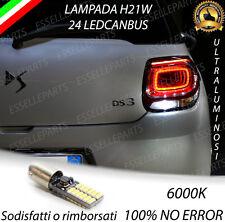 LAMPADA RETROMARCIA 24 LED H21W CANBUS PER CITROEN DS3 CON FARI 3D 6000K BIANCO