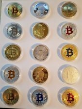 Gold & Silver Bitcoin Commemorative BTC Physical collectors bit coin lot of 15