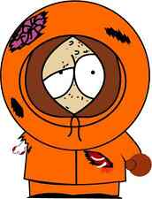 "South Park Kenny Cartoon Bumper Sticker Decal 4"" x 5"""