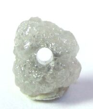 1 WHITE/ SILVER Natural Rough Diamond Beads 3/4 pc