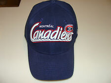 Montreal Canadiens New Era Hat Cap NHL Hockey 39thirty Flex Fit WordMark M/L