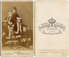 QUEEN VICTORIA'S GRANDCHILDREN,LONDON. CDV CHILDREN OF EDWARD AND ALEXANDRA
