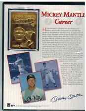 THE DANBURY MINT MICKEY MANTLE 23KT GOLD BOOK YANKEES