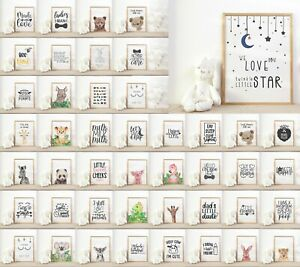 Nursery & Childrens Bedroom Cute Prints & Posters - Baby Wall Art Decoration
