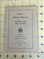 Vintage Brochure Facts about Maine The Offer of the Pine Tree State 1968 Augusta