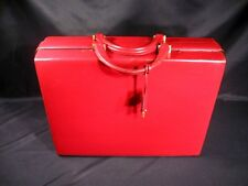 Gucci Made in Italy Attache Case Red Leather