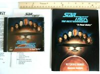 Star Trek Next Generation A Final Unity 1995 PC Game Disc Manual & Extras No Box