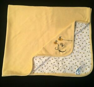 Ultra Rare 2001 Vintage Gymboree Yellow Bee Blanket Lovey Baby Girl Boy BEEZ