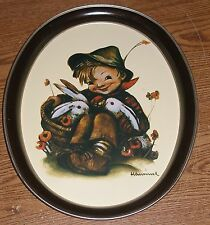 1983 Hummel Tray Playmates Tr-H372 Vintage Nice Serving Ars Boy Bunnies Used