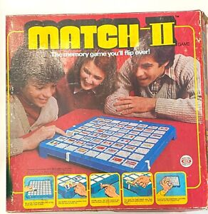 Match II 2 Board Game 1978 Original Replacement Tiles Flag Pairs Choose Country