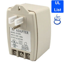CCTV Plug-In Adaptor 24V AC 50VA Power Supply Transformer UL LISTED For Cameras