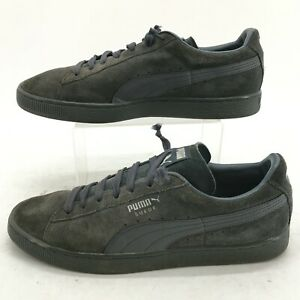 PUMA Classic+ Lfs Sneakers Mens 12 Grey Suede Casual Shoes Low Top 356328 07