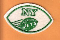 1960's AFL NY NEW YORK JETS FOOTBALL SHAPE LOGO PATCH UNUSED STOCK