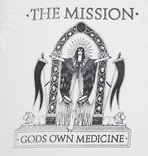 S * vtg 80s 1986 THE MISSION gods own medicine t shirt * sisters of mercy 45.162
