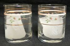 Lenox Rose Manor-Pink 2 Glassware Votive Candleholders Rare!