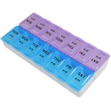 HQRP Weekly Pill Organizer / Twice-a-Day Pill Case