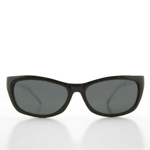 Black Rectangular Beatnik Deadstock Sunglass with Glass Lens - Jordan