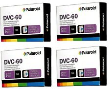 FOUR -DVC-60 Polaroid Mini DV Digital Videocassettes, 60 (SP) or 90 minutes (LP)